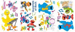 Details about 36 new sesame street rock amp roll wall decals kids amp baby