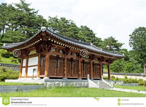 Koreanisches Traditionelles Haus Lizenzfreie Stockfotos