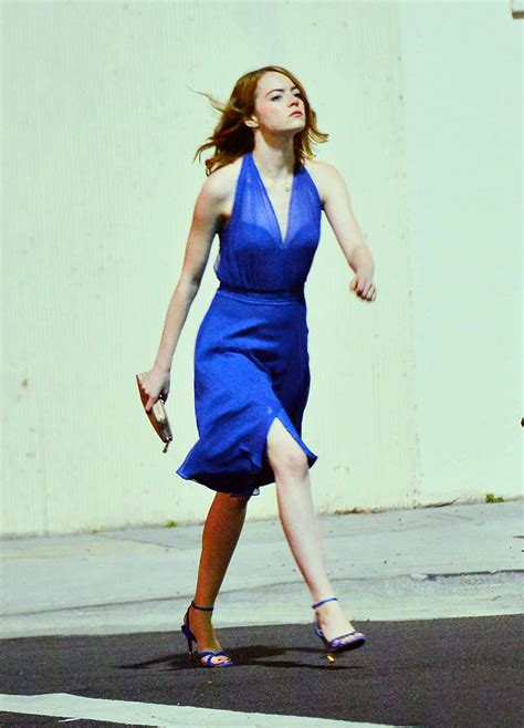 emma stone la la land dress emma stone la la land set in hollywood october 2015