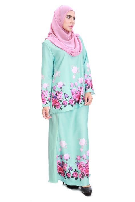 Baju Melayu Light blooming cotton flora baju kurung code 140
