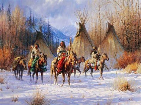 imagenes de paisajes indios im 225 genes arte pinturas paisajes con indios y caballos