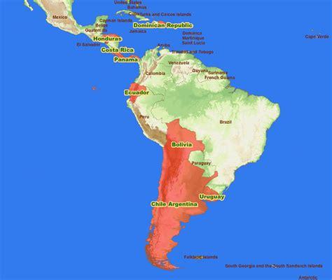 south america map costa rica costa rica south america map