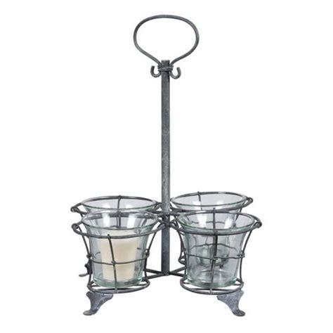 phenomenal metal pillar candle holder mirror candle sconce metal votive candle holder with 4 glass cups