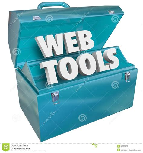 web tools web tools toolbox website developer kit stock photo
