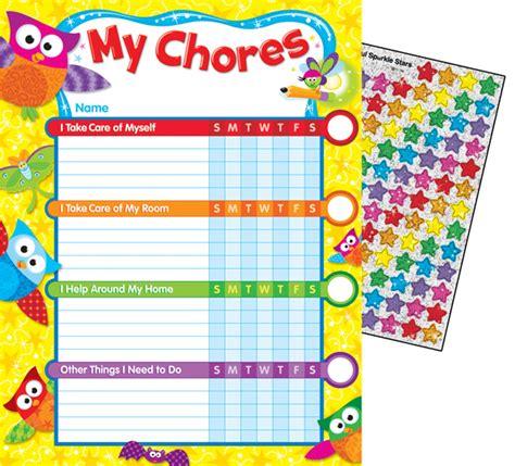 printable owl reward chart owl stars chore charts 041158 details rainbow