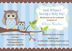 owl baby shower invitations boy baby shower