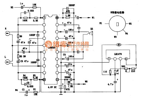 circuit diagram of integrated circuit la4520 single chip stereo player integrated circuit diagram lifier circuits audio