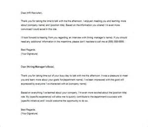 Thank you letter to recruiter 10 free word excel pdf format