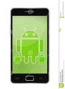 An illustration of a android mobile phone an additional vector eps
