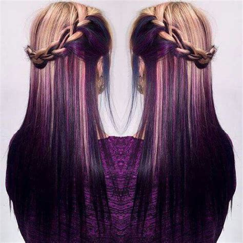 Purple And Blonde Hairstyles | purple and blonde hair me hair nails pinterest