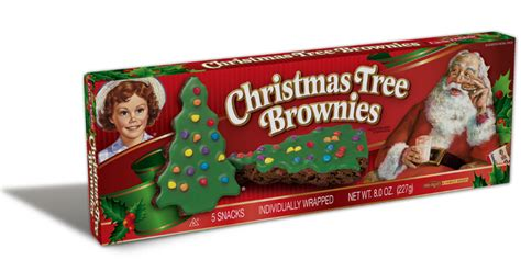 christmas tree brownies little debbie