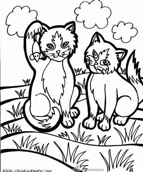 two cats coloring page kleurplaten katten kleurplaten kleurplaat nl