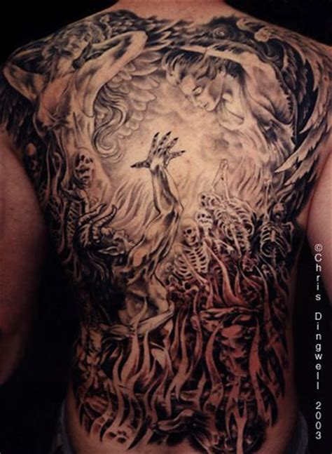 heaven hell tattoo designs 17 best images about mural ideas on