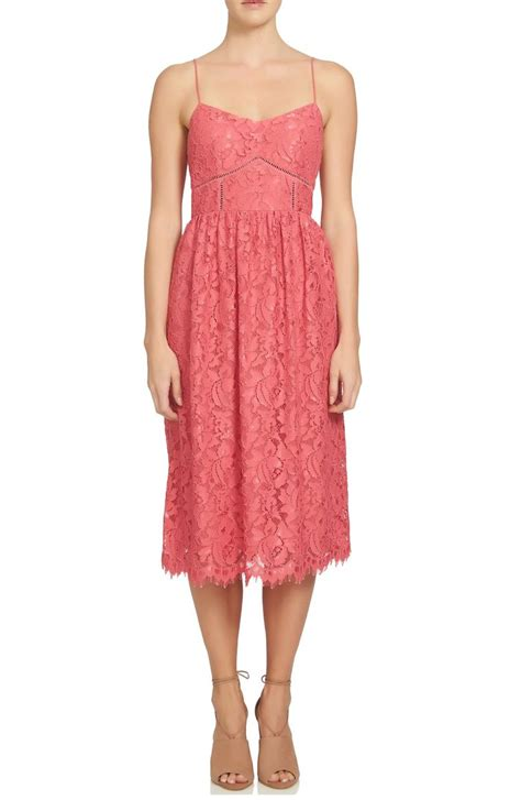 Lace Sheath Midi Dress lace sheath dresses on trend for wedding guest season