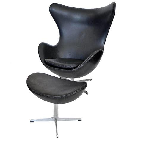 leather egg chair early black leather egg chair ottoman arne jacobsen