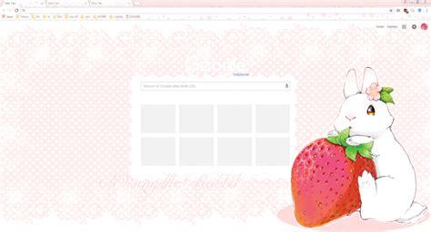 theme google chrome rabbit strawberry rabbit chrome theme themebeta
