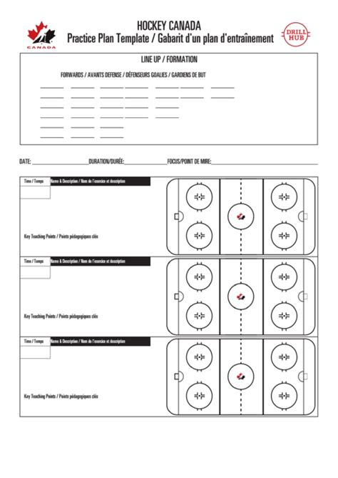 Hockey Practice Plan Template