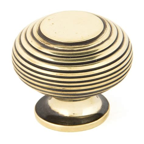 Large Cabinet Knobs by From The Anvil Beehive Cabinet Knob Antique Brass Large