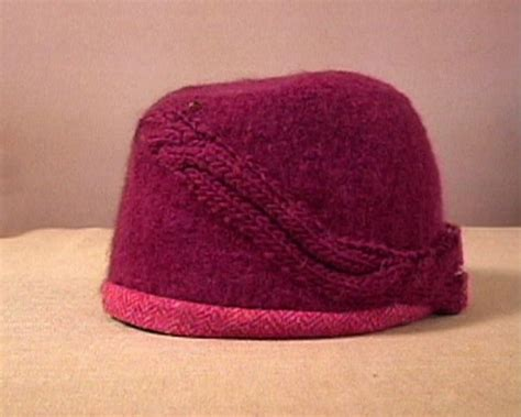 how to design a knitted hat how to knit and felt a cloche hat hgtv