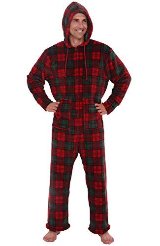Jumpsuit Rossa 1 rossa mens fleece onesie hooded footed jumpsuit pajamas medium and green