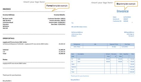 Exle Invoice Template Simple Invoice Template Amphis Software Formal Invoice Template