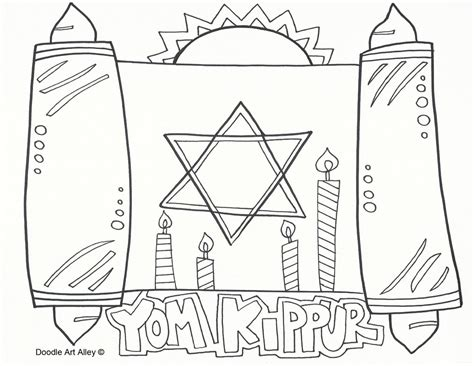 coloring pages for yom kippur yom kippur coloring pages religious doodles
