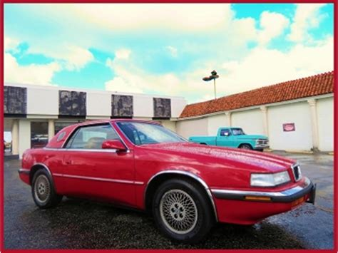 Chrysler Tc Maserati For Sale by 1989 Chrysler Tc By Maserati For Sale Classiccars