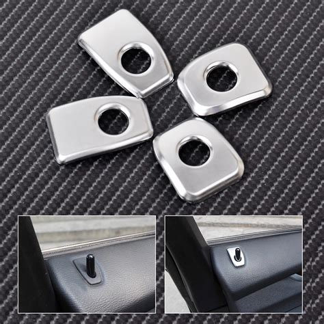 Locking Door Knob Covers by For Bmw X5 X6 2015 Matt Chrome Car Door Lock Knob Grommet Ferrule Covers Trim Ebay