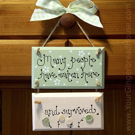 Handmade Sign - your gingerbread house kitchen signs handmade wooden