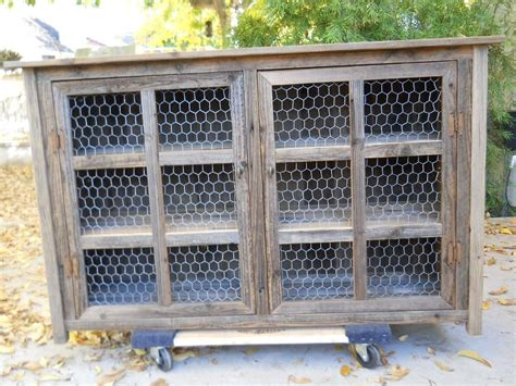 chicken wire cabinet doors made large barnwood pie cabinet with chicken wire by