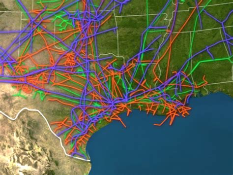 map of crude pipelines in the us animated map shows all the major and gas pipelines in