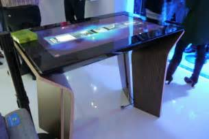 Giant Desk Microsoft S New Surface Interactive Table Sees Your Point