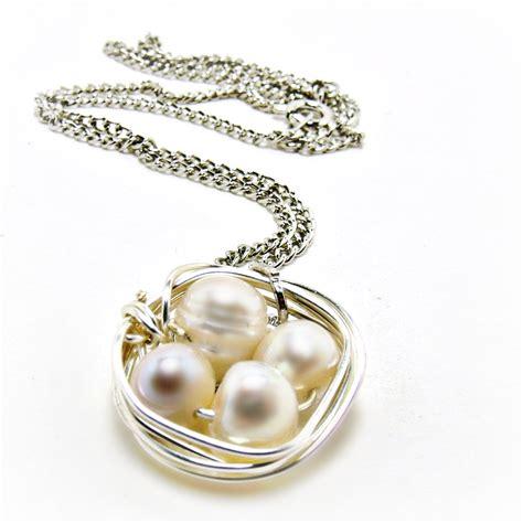pearl jewelry bird nest neacklace freshwater pearl necklace bird nest