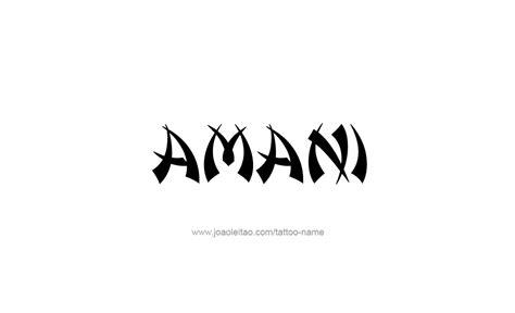 amani name tattoo designs