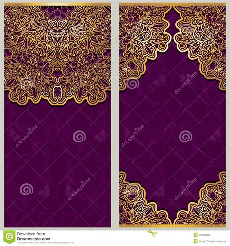 ornate card templates set of ornate templates for banners or greeting card with