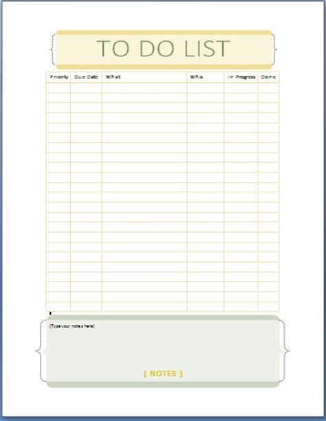microsoft template to do list ms word personal tasks to do list template formal word