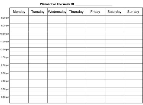 hourly appointment calendar template hourly schedule template weekly planner best ideas on