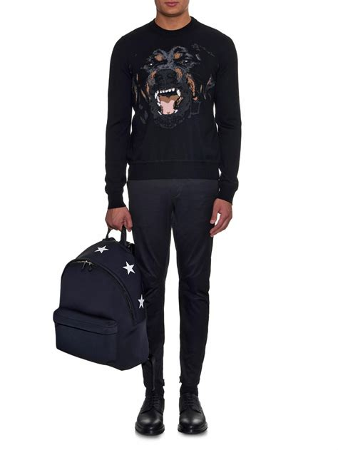 givenchy rottweiler sweater lyst givenchy rottweiler crew neck sweater in black for