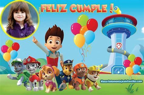 fotomontajes de feliz cumplea os fotomontajes infantiles marcos marco feliz cumplea 241 os con paw patrol fotomontajes