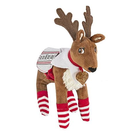 pets a reindeer tradition with cuddly reindeer and