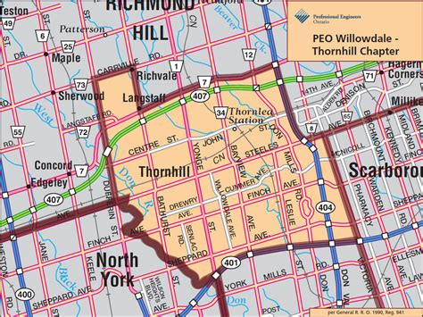 thornhill ontario map my blog