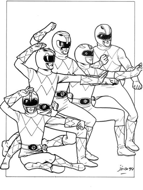 green mighty morphin power ranger coloring pages coloring