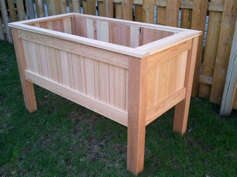 Elevated Garden Planter by Innovative Raised Planter Box Design White Counter