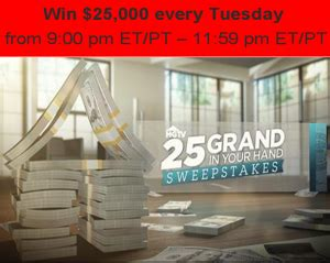 Hgtv 25000 Sweepstakes - hgtv win 25 000 every tuesday by april 29 2015 giveawayus com