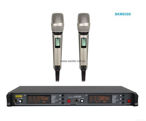Mic Microphone Wireless Sennheiser Skm 9000 Multi Channel 2017 uhf wireless microphone skm9300 with two metal microphones 200channels show sennheiser