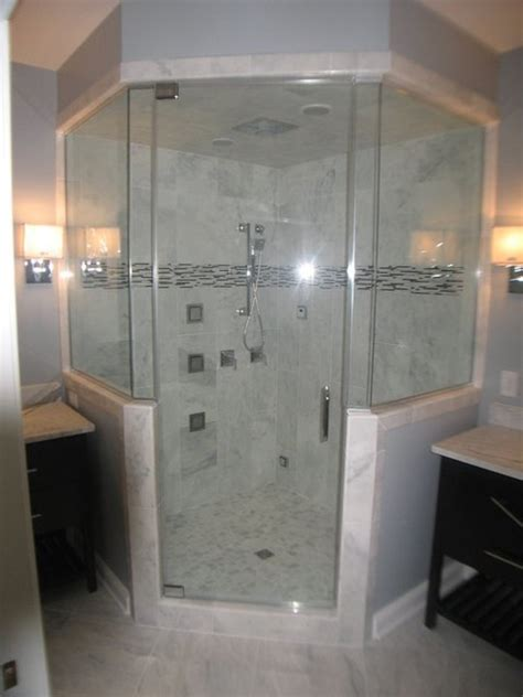 Kepala Jet Shower Bathroom Toilet Shower steam shower with 4 panel shower rainhead and jets traditional bathroom other metro