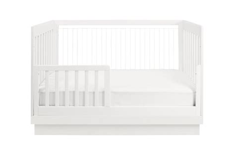 harlow acrylic 3 in 1 convertible crib with toddler bed