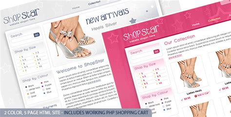 Shop Star 2 Color Template Inc Php Shopping Cart Themeforest Php Shopping Cart Template