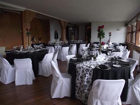 decoracion blanco negro  rojo decoraciones mesas
