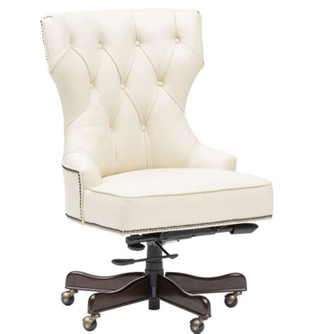 white leather desk chair leather tufted office chair how to sew button of tufted